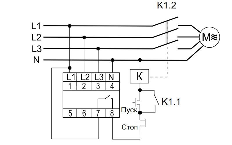 Схема подключения автомата защиты двигателя CKF-B