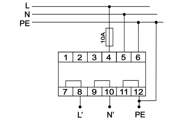 Схема подключения OP-230