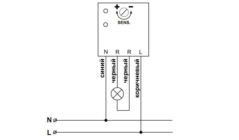 Схема подключения ASO-208.